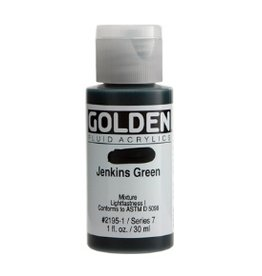 GOLDEN GOLDEN FLUID ACRYLIC JENKINS GREEN 4OZ
