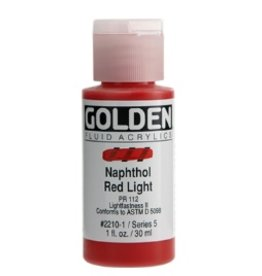 GOLDEN GOLDEN FLUID ACRYLIC NAPHTHOL RED LIGHT 4OZ