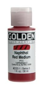 GOLDEN GOLDEN FLUID ACRYLIC NAPHTHOL RED MEDIUM 4OZ
