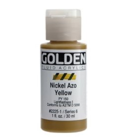 GOLDEN GOLDEN FLUID ACRYLIC NICKEL AZO YELLOW 4OZ