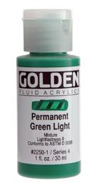 GOLDEN GOLDEN FLUID ACRYLIC PERMANENT GREEN LIGHT 4OZ