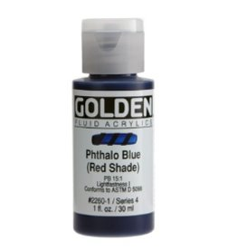 GOLDEN GOLDEN FLUID ACRYLIC PHTHALO BLUE (RED SHADE) 4OZ