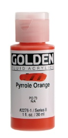 GOLDEN GOLDEN FLUID ACRYLIC PYRROLE ORANGE 4OZ