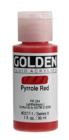 GOLDEN GOLDEN FLUID ACRYLIC PYRROLE RED 4OZ