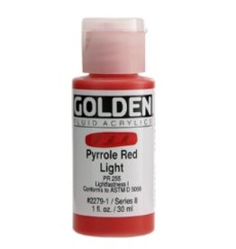 GOLDEN GOLDEN FLUID ACRYLIC PYRROLE RED LIGHT 4OZ
