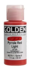 GOLDEN GOLDEN FLUID ACRYLIC PYRROLE RED LIGHT 4OZ
