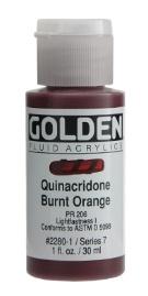 GOLDEN GOLDEN FLUID ACRYLIC QUINACRIDONE BURNT ORANGE 4OZ