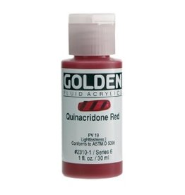 GOLDEN GOLDEN FLUID ACRYLIC QUINACRIDONE RED 4OZ