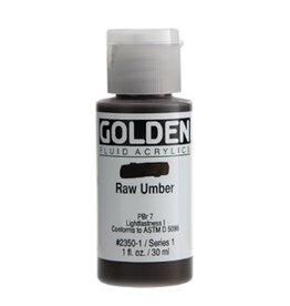 GOLDEN GOLDEN FLUID ACRYLIC RAW UMBER 4OZ