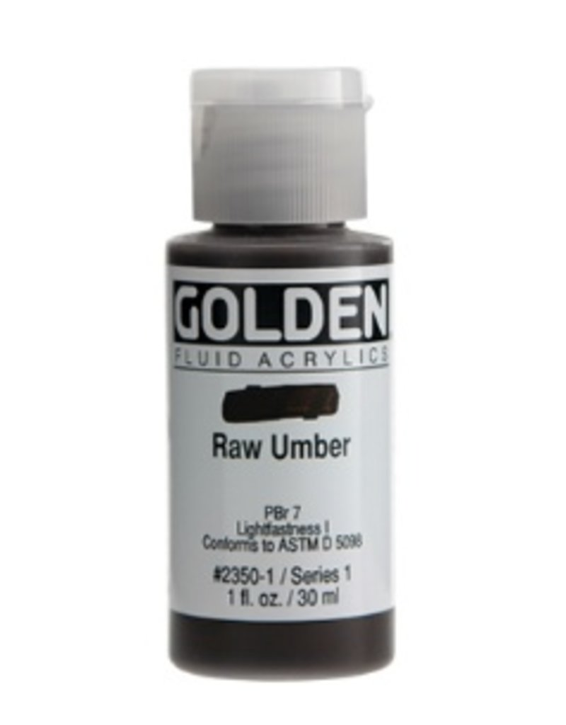 GOLDEN GOLDEN FLUID ACRYLIC RAW UMBER 4OZ