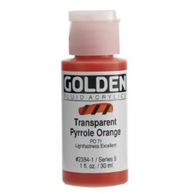 GOLDEN GOLDEN FLUID ACRYLIC TRANSPARENT PYRROLE ORANGE 4OZ
