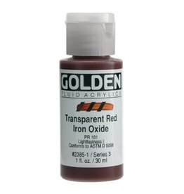 GOLDEN GOLDEN FLUID ACRYLIC TRANSPARENT RED IRON OXIDE 4OZ
