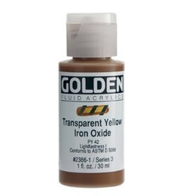 GOLDEN GOLDEN FLUID ACRYLIC TRANSPARENT YELLOW IRON OXIDE 4OZ