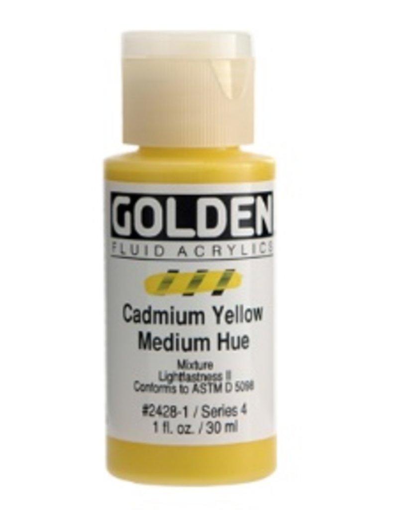 GOLDEN GOLDEN FLUID ACRYLIC CADMIUM YELLOW MEDIUM HUE 4OZ