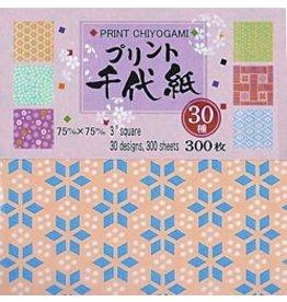 "AITOH AITOH ORIGAMI PAPER 3 SQUARE PRINT CHIYOGAMI 3"" 300/PK    PC3-300"