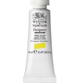 WINSOR NEWTON WINSOR & NEWTON DESIGNERS GOUACHE LEMON YELLOW 14ML
