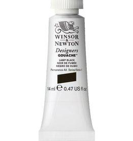 WINSOR NEWTON WINSOR & NEWTON DESIGNERS GOUACHE LAMP BLACK 14ML