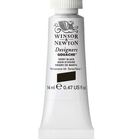 WINSOR NEWTON WINSOR & NEWTON DESIGNERS GOUACHE IVORY BLACK 14ML