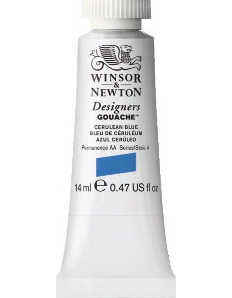 WINSOR NEWTON WINSOR & NEWTON DESIGNERS GOUACHE CERULEAN BLUE 14ML