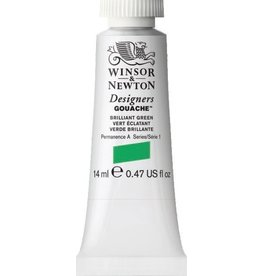 WINSOR NEWTON WINSOR & NEWTON DESIGNERS GOUACHE BRILLIANT GREEN 14ML