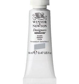 WINSOR NEWTON WINSOR & NEWTON DESIGNERS GOUACHE SILVER, METAL BASED 14ML