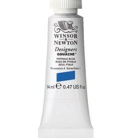 WINSOR NEWTON WINSOR & NEWTON DESIGNERS GOUACHE PHTHALO BLUE 14ML