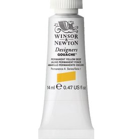 WINSOR NEWTON WINSOR & NEWTON DESIGNERS GOUACHE PERMANENT YELLOW DEEP 14ML