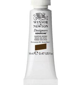 WINSOR NEWTON WINSOR & NEWTON DESIGNERS GOUACHE VANDYKE BROWN 14ML