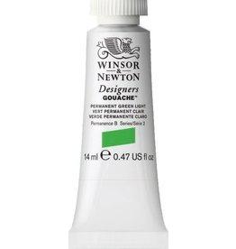 WINSOR NEWTON WINSOR & NEWTON DESIGNERS GOUACHE PERMANENT GREEN LIGHT 14ML