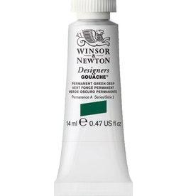 WINSOR NEWTON WINSOR & NEWTON DESIGNERS GOUACHE PERMANENT GREEN DEEP 14ML