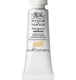 WINSOR NEWTON WINSOR & NEWTON DESIGNERS GOUACHE NAPLES YELLOW 14ML