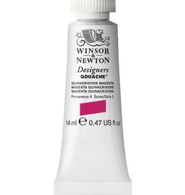 WINSOR NEWTON WINSOR & NEWTON DESIGNERS GOUACHE QUINACRIDONE MAGENTA 14ML