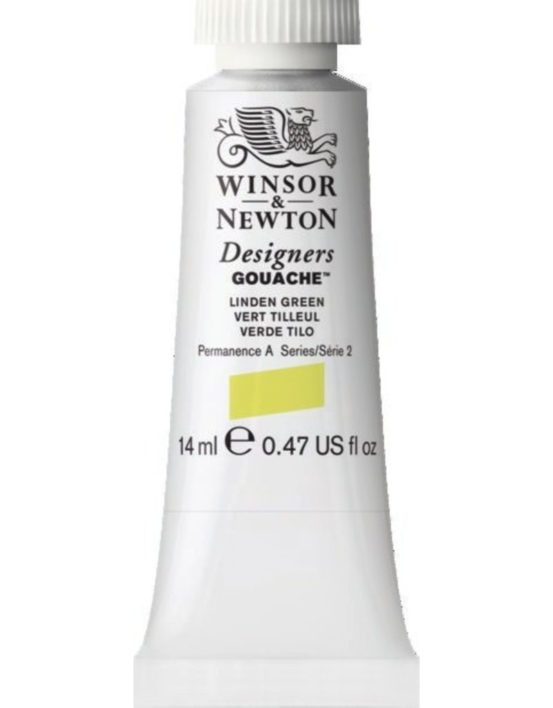 WINSOR NEWTON WINSOR & NEWTON DESIGNERS GOUACHE LINDEN GREEN 14ML