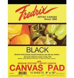 TARA (FREDRIX) FREDRIX CANVAS PAD BLACK 9X12  10SHT