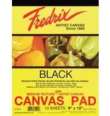 TARA (FREDRIX) FREDRIX CANVAS PAD BLACK 12X16  10SHT