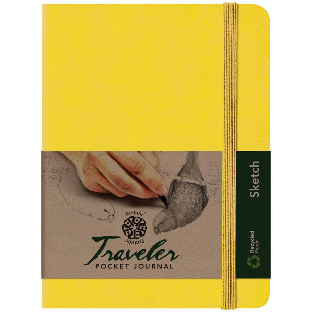PENTALIC PENTALIC TRAVELER POCKET JOURNAL SKETCH 8X6 YELLOW GOLD