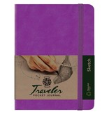 PENTALIC PENTALIC TRAVELER POCKET JOURNAL SKETCH 8X6 PURPLE