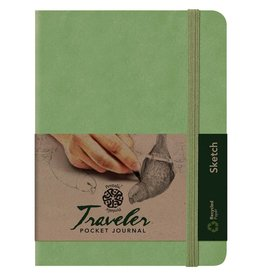 PENTALIC PENTALIC TRAVELER POCKET JOURNAL SKETCH 8X6 OLIVE GREEN