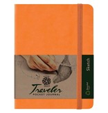 PENTALIC PENTALIC TRAVELER POCKET JOURNAL SKETCH 8X6 ORANGE
