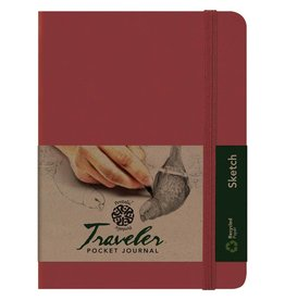 PENTALIC PENTALIC TRAVELER POCKET JOURNAL SKETCH 8X6 BURGUNDY
