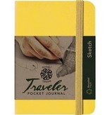 PENTALIC PENTALIC TRAVELER POCKET JOURNAL SKETCH 6X4 YELLOW GOLD