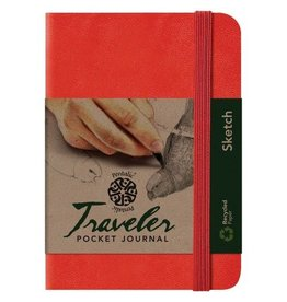 PENTALIC PENTALIC TRAVELER POCKET JOURNAL SKETCH 6X4 RED