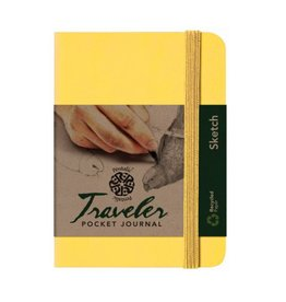 PENTALIC PENTALIC TRAVELER POCKET JOURNAL SKETCH 6X4 CITRINE YELLOW