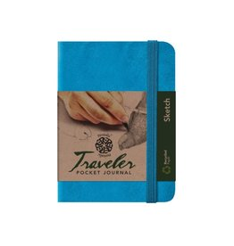 PENTALIC PENTALIC TRAVELER POCKET JOURNAL SKETCH 6X4 BRIGHT BLUE