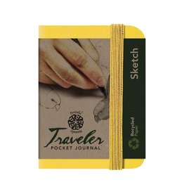 PENTALIC PENTALIC TRAVELER POCKET JOURNAL SKETCH 4X3 YELLOW GOLD