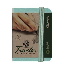 PENTALIC PENTALIC TRAVELER POCKET JOURNAL SKETCH 4X3 TURQUOISE