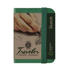 PENTALIC PENTALIC TRAVELER POCKET JOURNAL SKETCH 4X3 GREEN