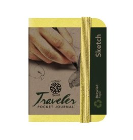 PENTALIC PENTALIC TRAVELER POCKET JOURNAL SKETCH 4X3 CITRINE YELLOW