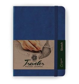 PENTALIC PENTALIC TRAVELER POCKET JOURNAL SKETCH 4X3 BLUE