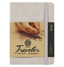 PENTALIC PENTALIC TRAVELER POCKET JOURNAL GRID 6X4 CHAMPAGNE